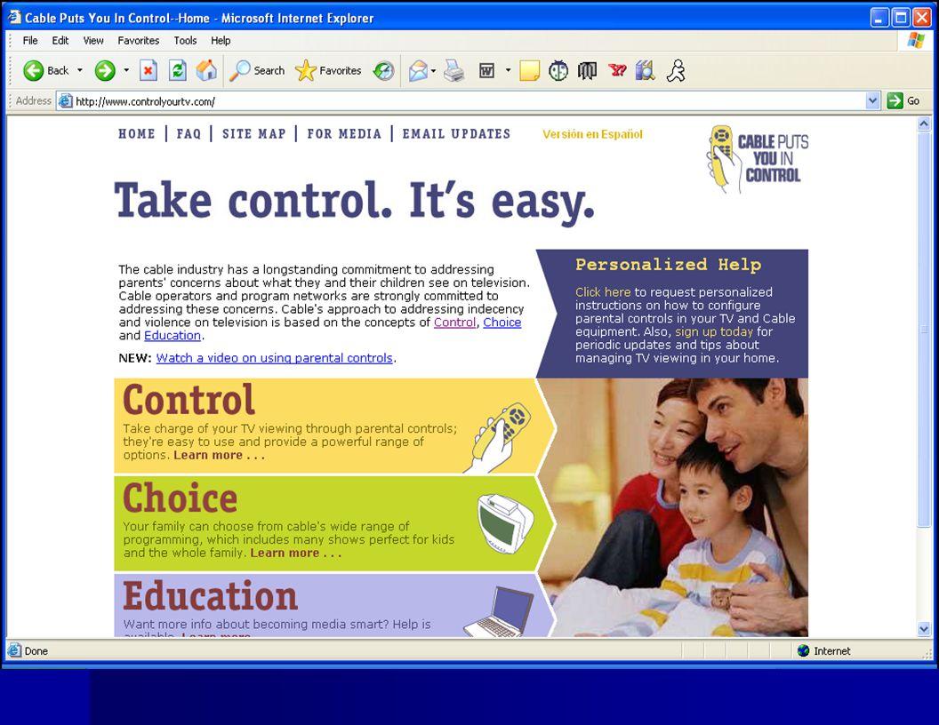 Television www.controlyourtv.com www.controlyourtv.com