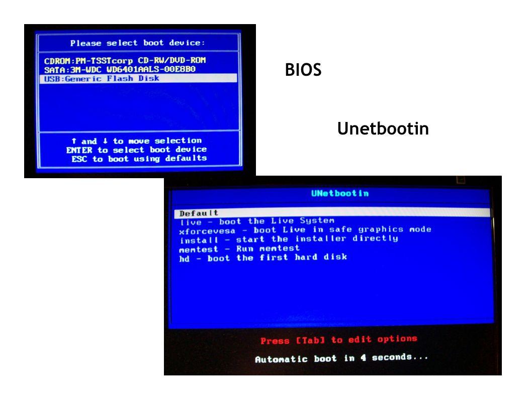 BIOS Unetbootin