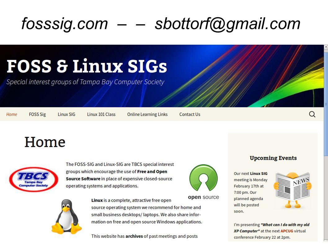 fosssig.com – – sbottorf@gmail.com