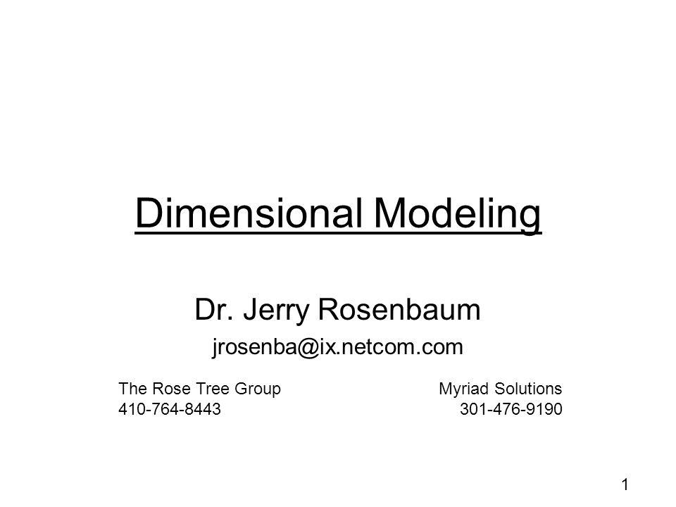 1 Dimensional Modeling Dr.