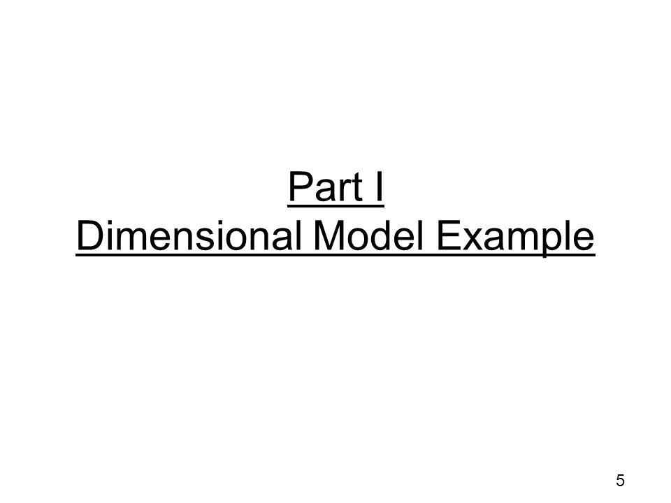 5 Part I Dimensional Model Example