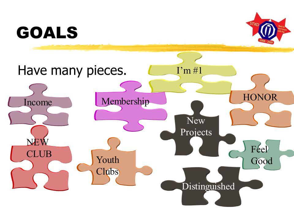 GOALS Have many pieces.