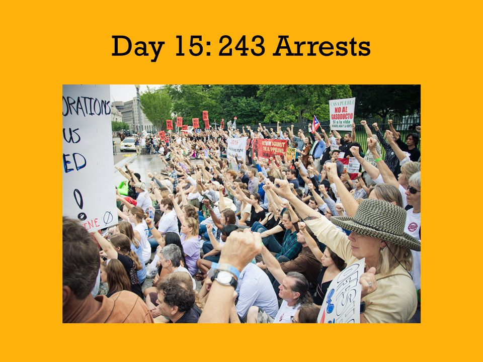 Day 15: 243 Arrests