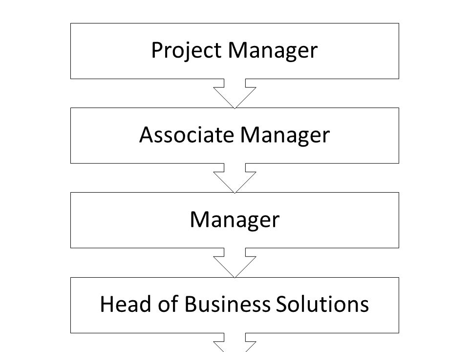 Head of Business Solutions Manager Associate Manager Project Manager