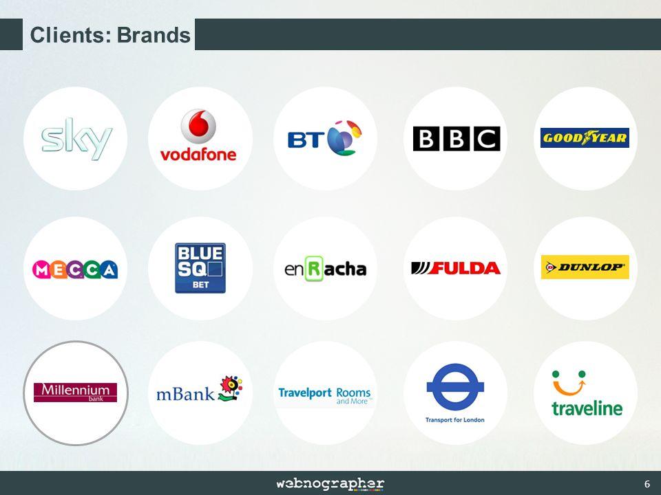 6 Clients: Brands