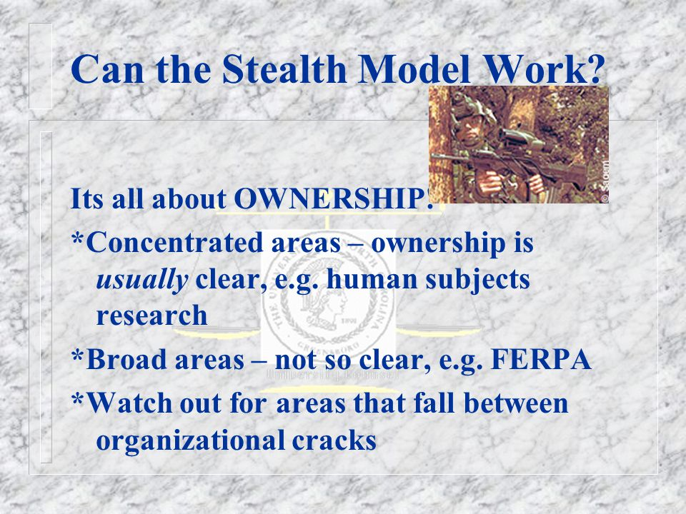 Can the Stealth Model Work. Its all about OWNERSHIP.
