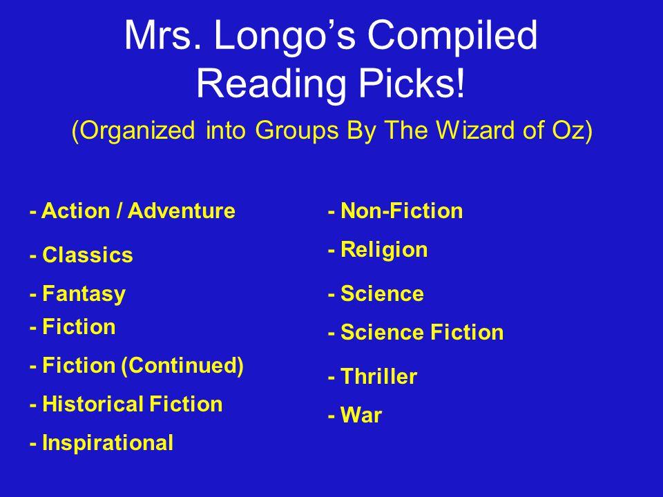 Mrs. Longo's Compiled Reading Picks.