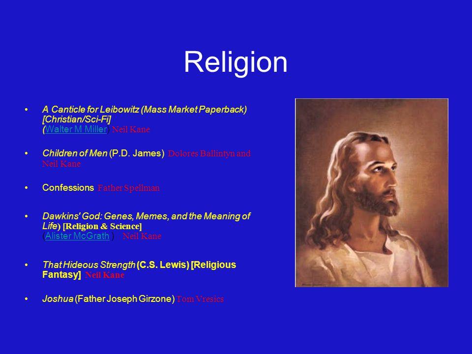 Religion A Canticle for Leibowitz (Mass Market Paperback) [Christian/Sci-Fi] (Walter M Miller) Neil KaneWalter M Miller Children of Men (P.D.
