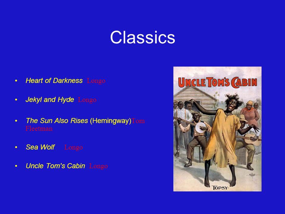 Classics Heart of Darkness Longo Jekyl and Hyde Longo The Sun Also Rises (Hemingway) Tom Fleetman Sea Wolf Longo Uncle Tom s Cabin Longo