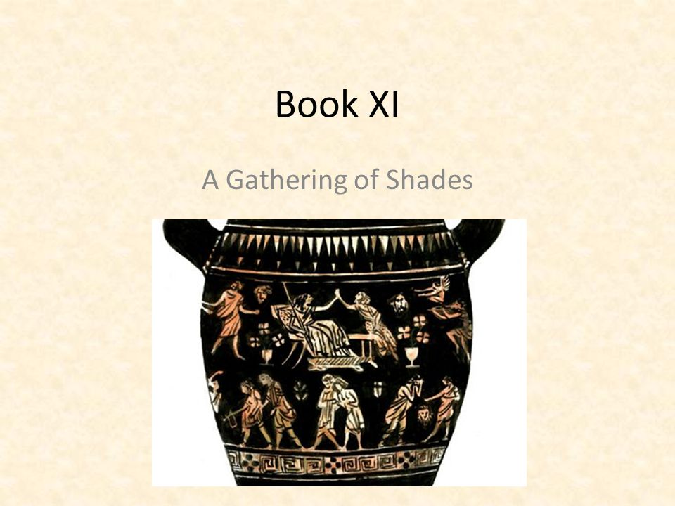Book XI A Gathering of Shades