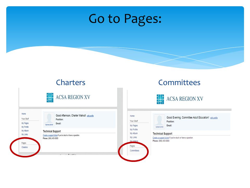 Go to Pages: ChartersCommittees