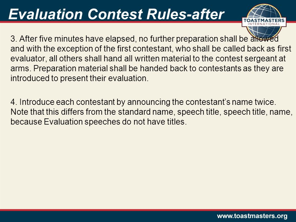 Evaluation Contest Rules-after 3.