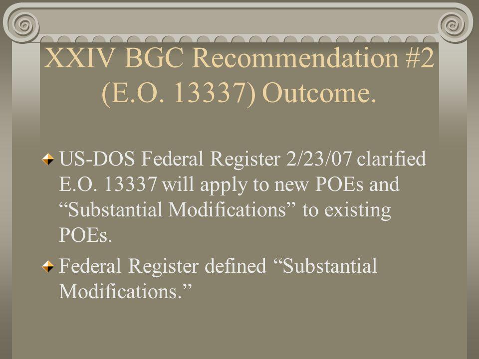 XXV BGC-IDEAS FOR JOINT COMMUNIQUÉ: 4) INVENTORY OF U.S.