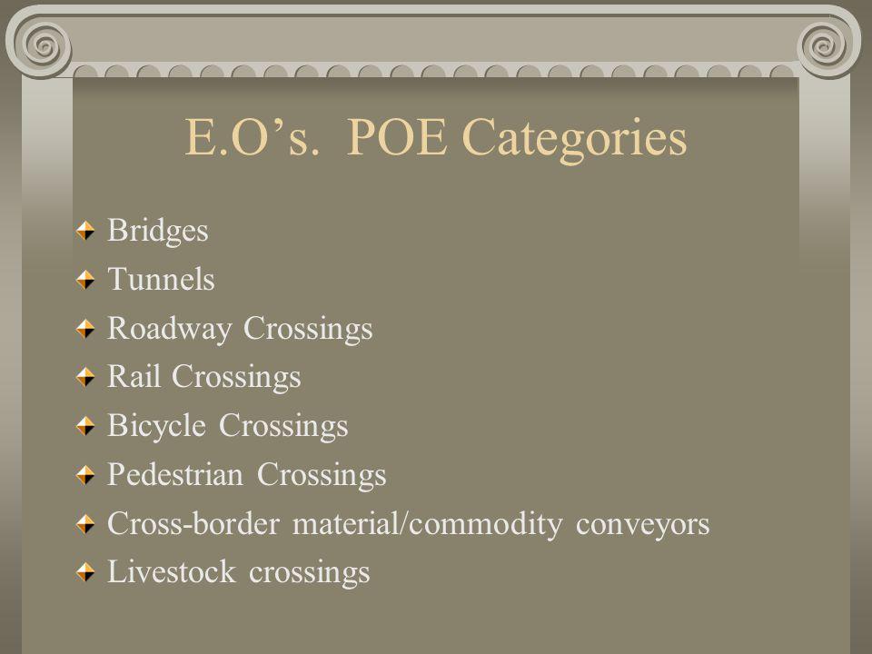 E.O's.