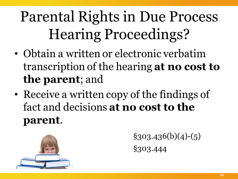 When may due process hearing procedures not be used.