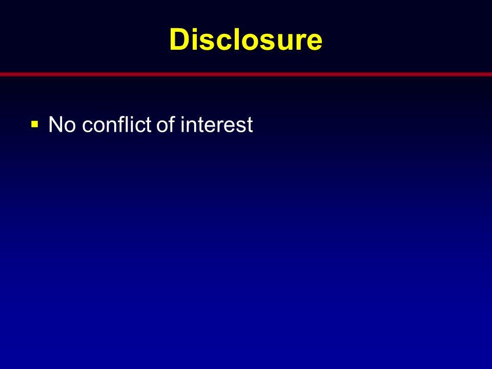 Disclosure  No conflict of interest