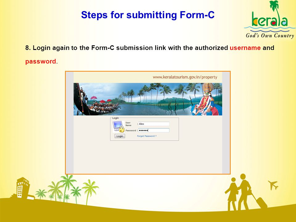 Steps for submitting Form-C 8.