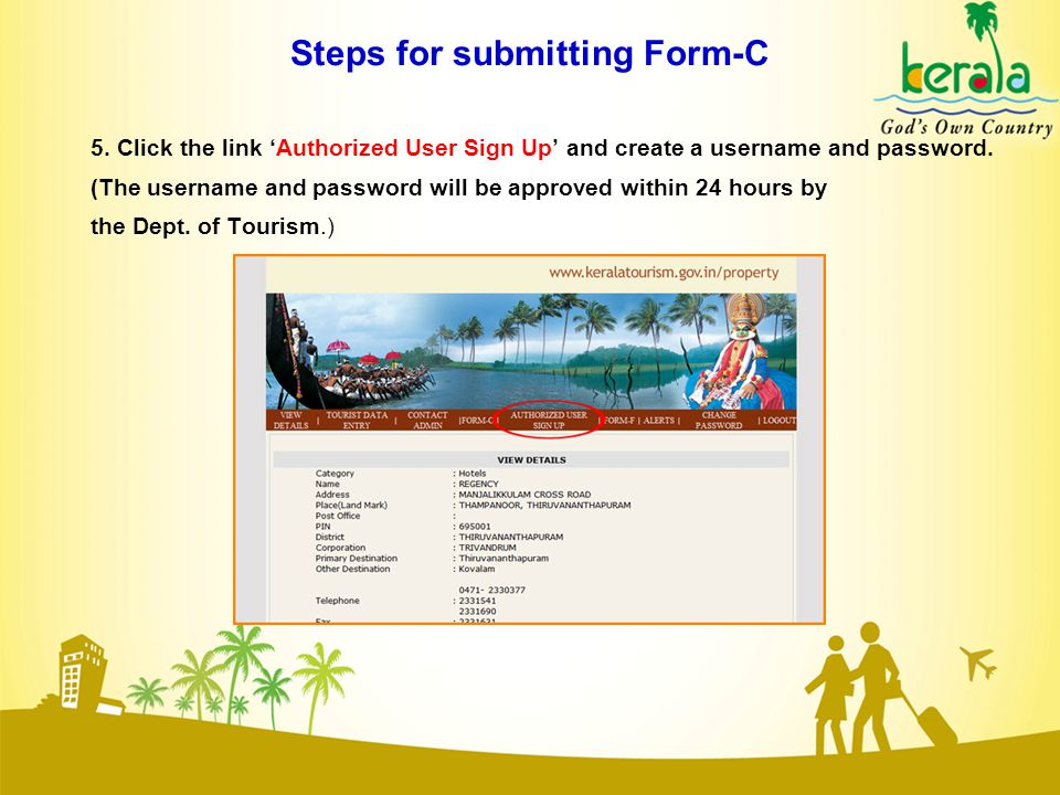 Steps for submitting Form-C 5.