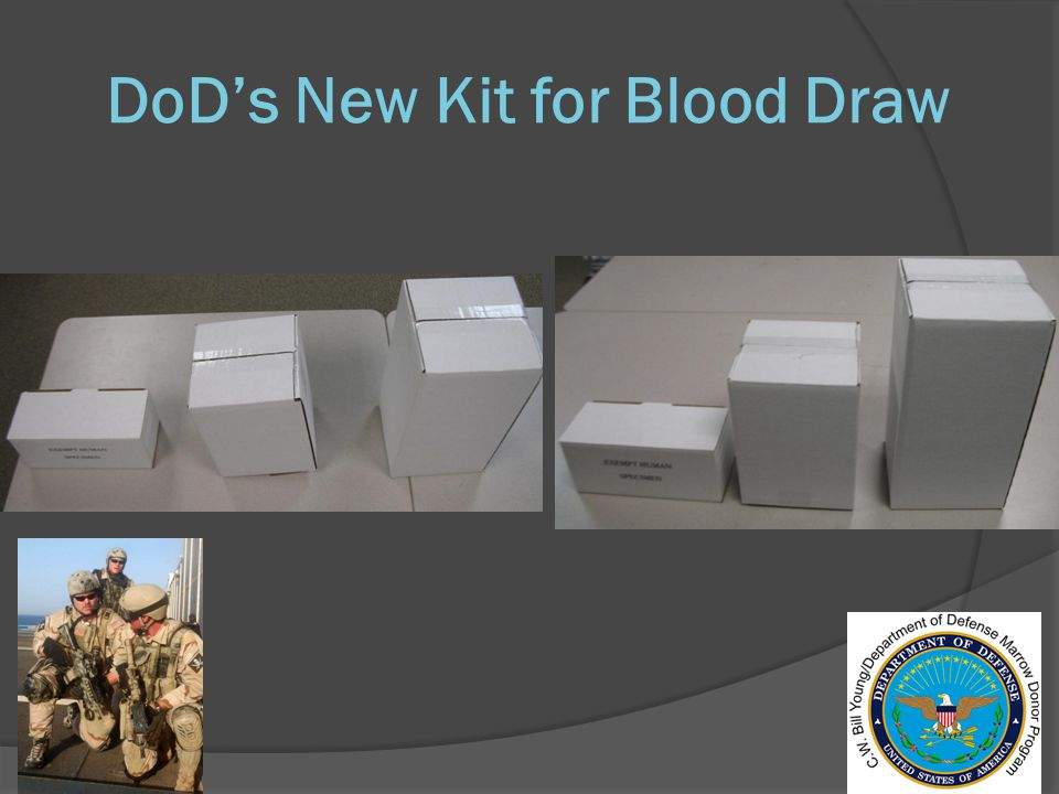 DoD's New Kit for Blood Draw