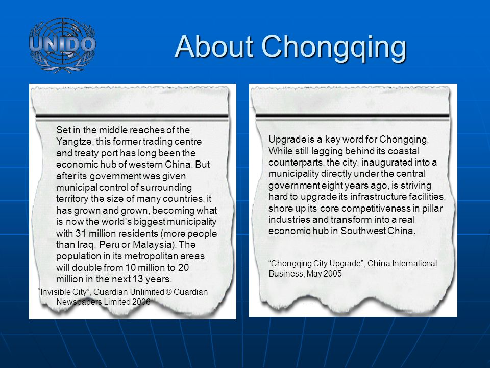 Upgrade is a key word for Chongqing.