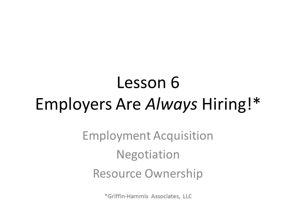 Aspects of Negotiation Employer Negotiations An essential element in Customized Employment is negotiating job duties and employee expectations to align the skills and interests of a job seeker to the needs of an employer.