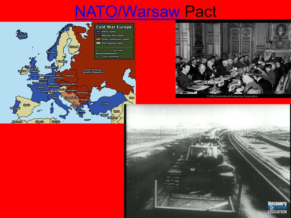 NATO/Warsaw NATO/Warsaw Pact