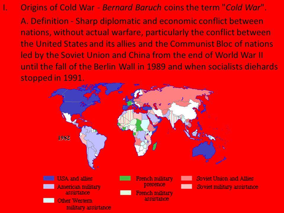 1.USSR dominates Eastern Europe 2.USSR A-bomb 3.China 4.Truman Doc.