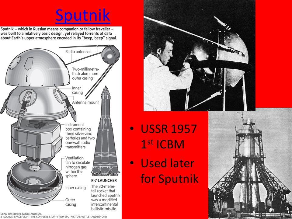 Sputnik USSR 1957 1 st ICBM Used later for Sputnik