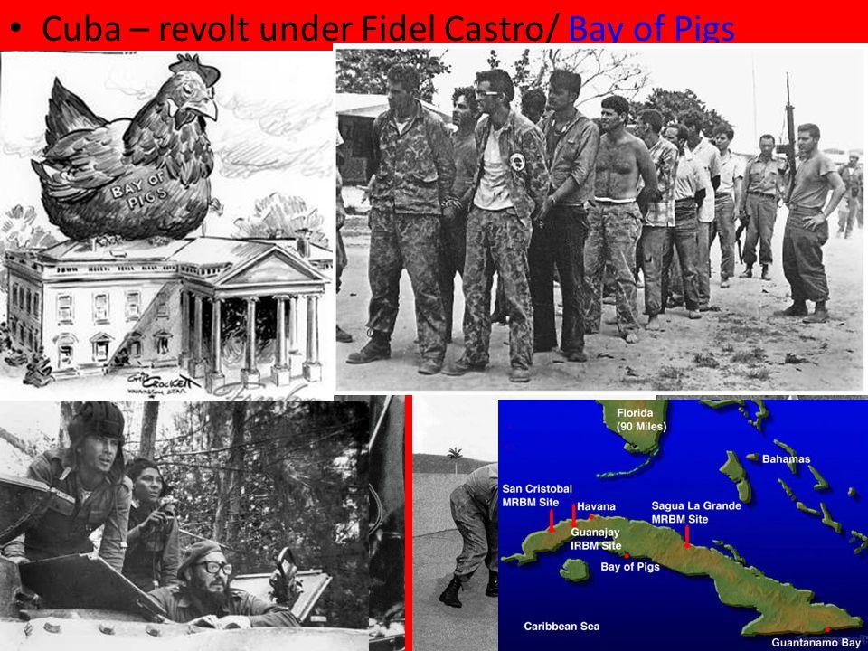 Cuba – revolt under Fidel Castro/ Bay of PigsBay of Pigs
