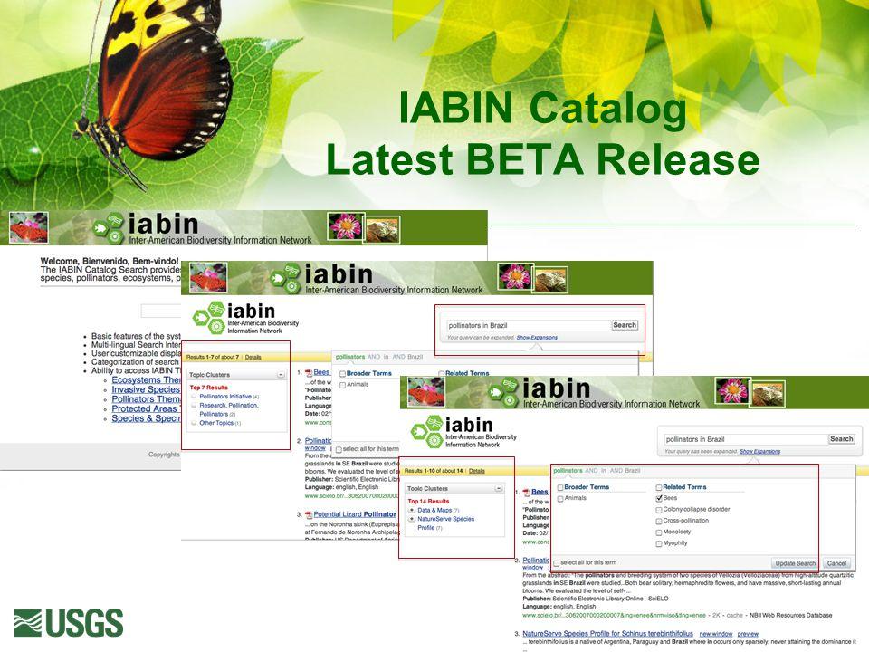 IABIN Catalog Latest BETA Release