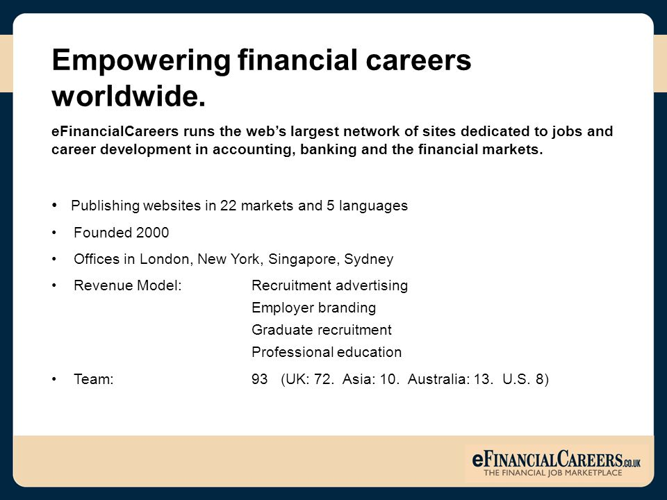 Empowering financial careers worldwide.