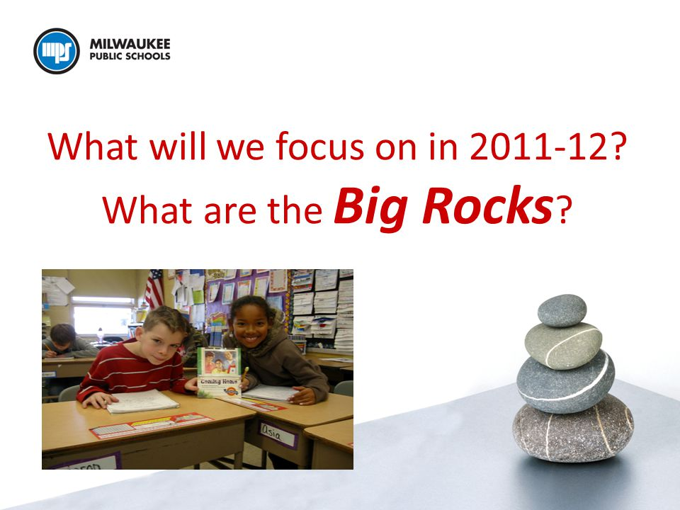 What will we focus on in 2011-12 What are the Big Rocks
