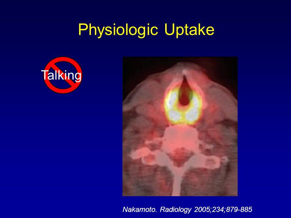 Talking Nakamoto. Radiology 2005;234;879-885 Physiologic Uptake