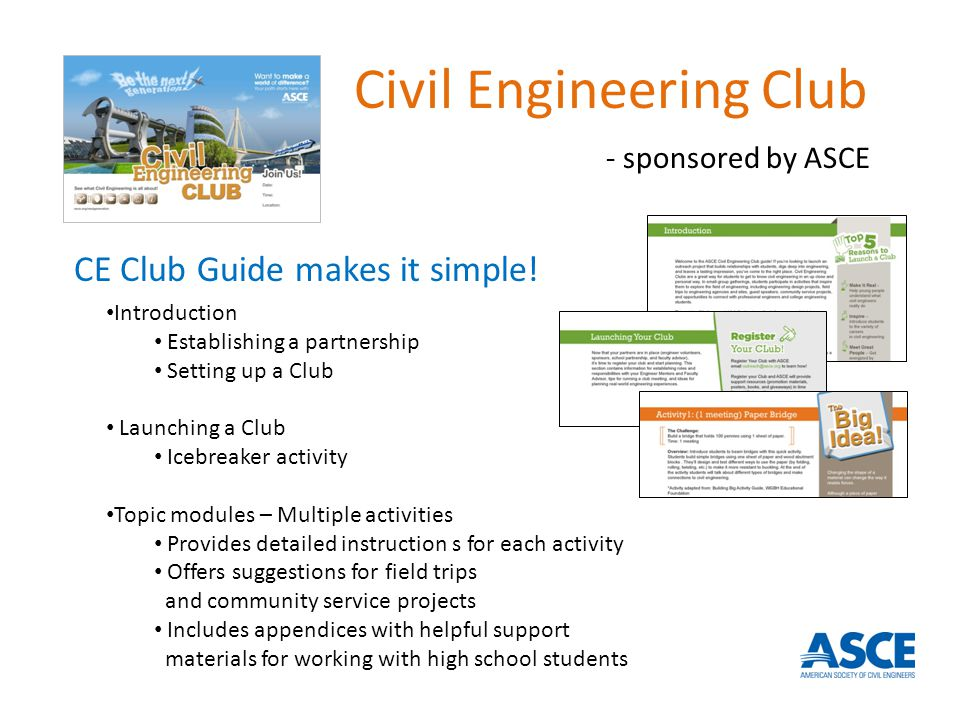 CE Club Guide makes it simple.