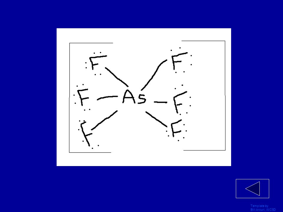 Template by Bill Arcuri, WCSD Draw the LDS for AsF 6 ˉ