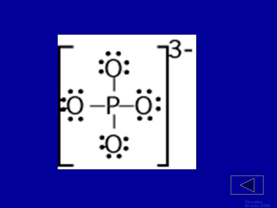 Template by Bill Arcuri, WCSD Draw the Lewis Dot Structure for PO 4 ˉ³.