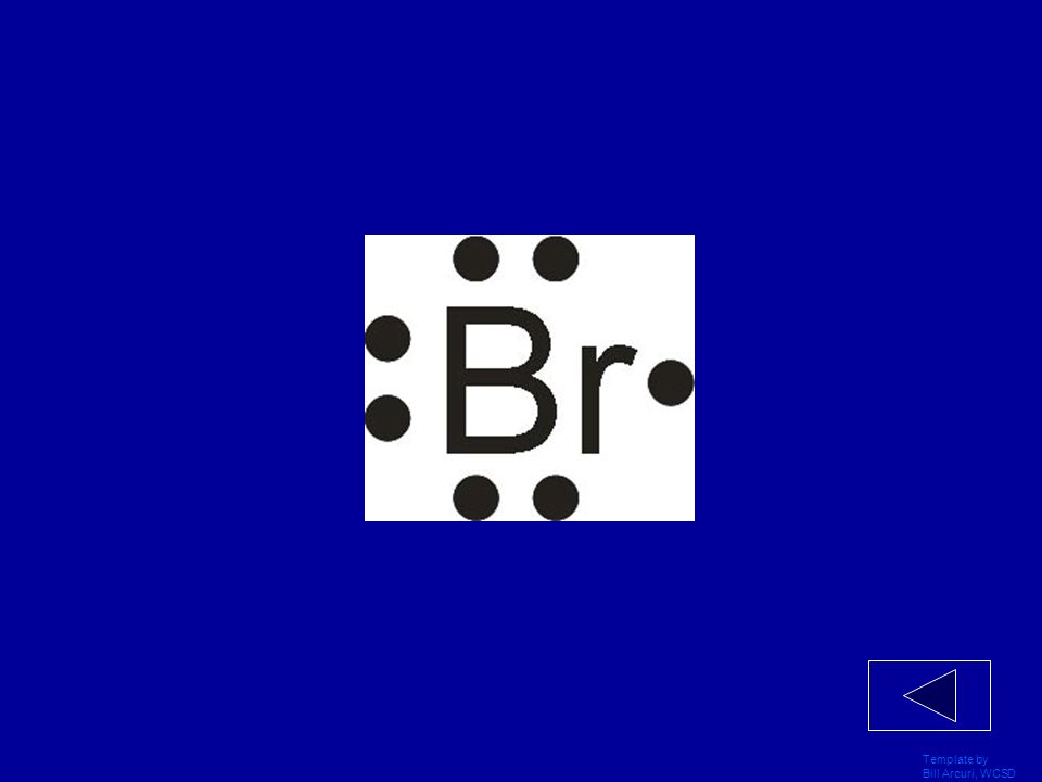Template by Bill Arcuri, WCSD Draw the Lewis Dot Structure for the Bromine atom.
