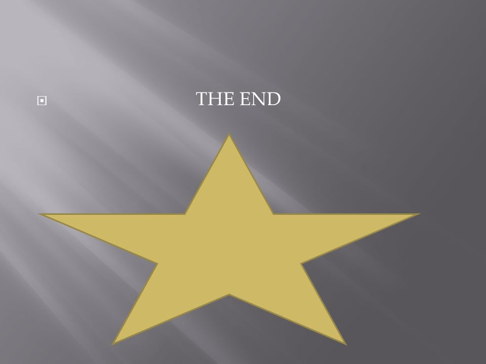  THE END