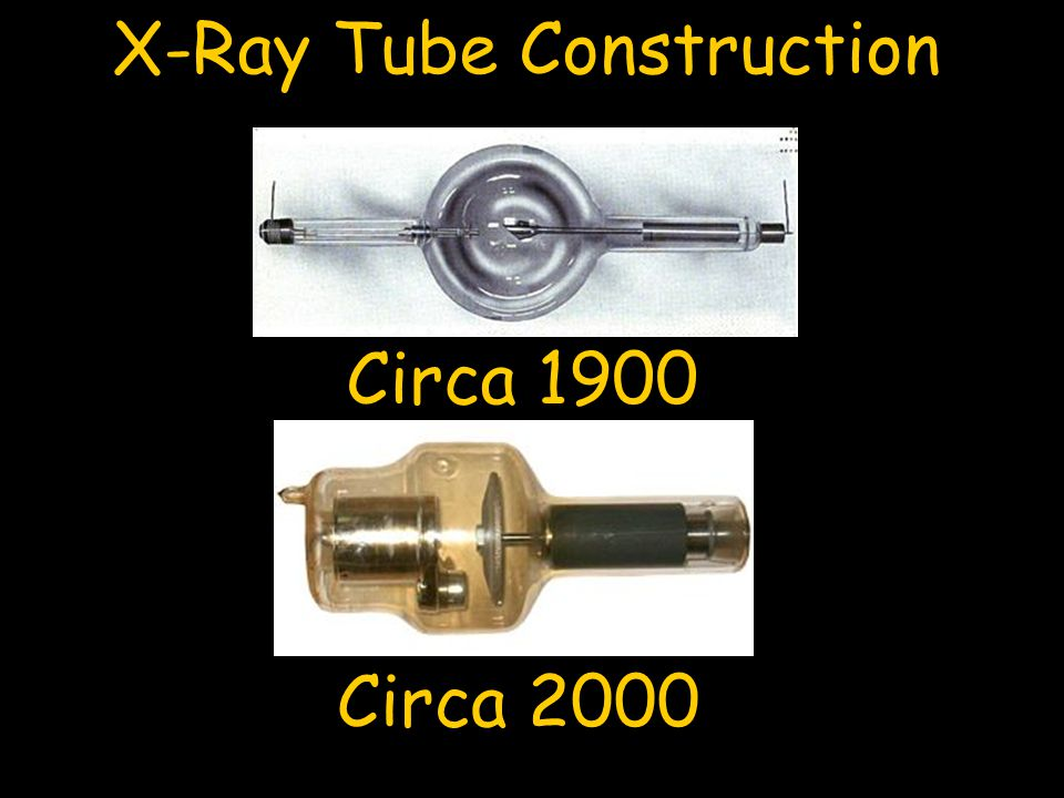 Circa 1900 Circa 2000 X-Ray Tube Construction