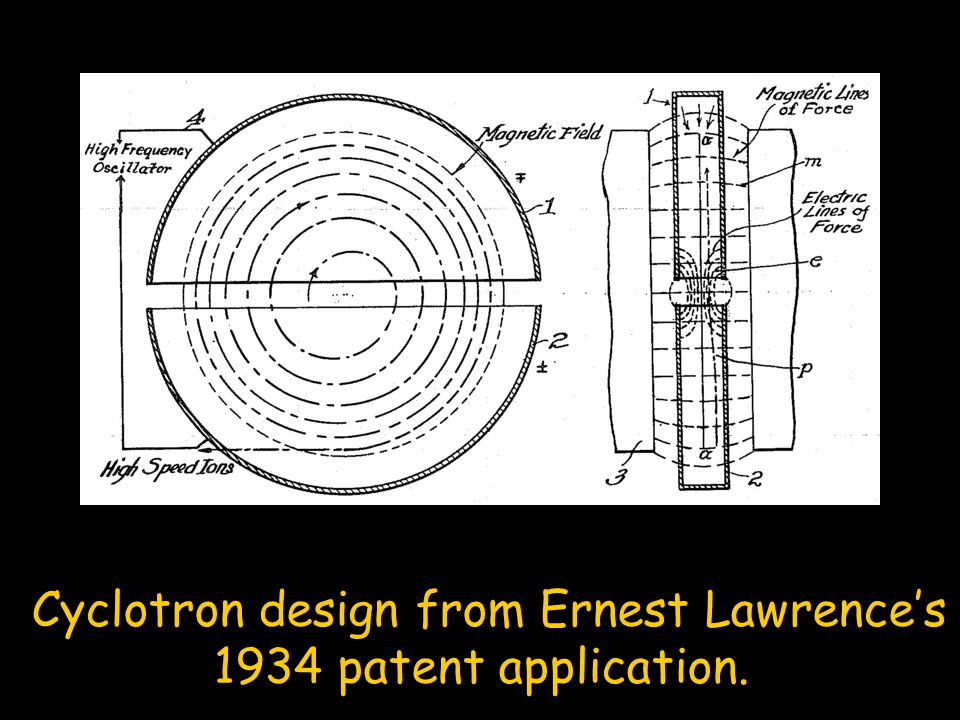Cyclotron design from Ernest Lawrence's 1934 patent application.