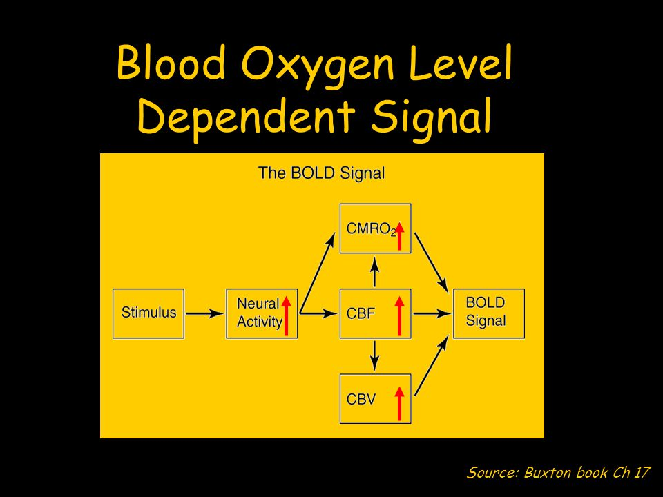 Blood Oxygen Level Dependent Signal Source: Buxton book Ch 17