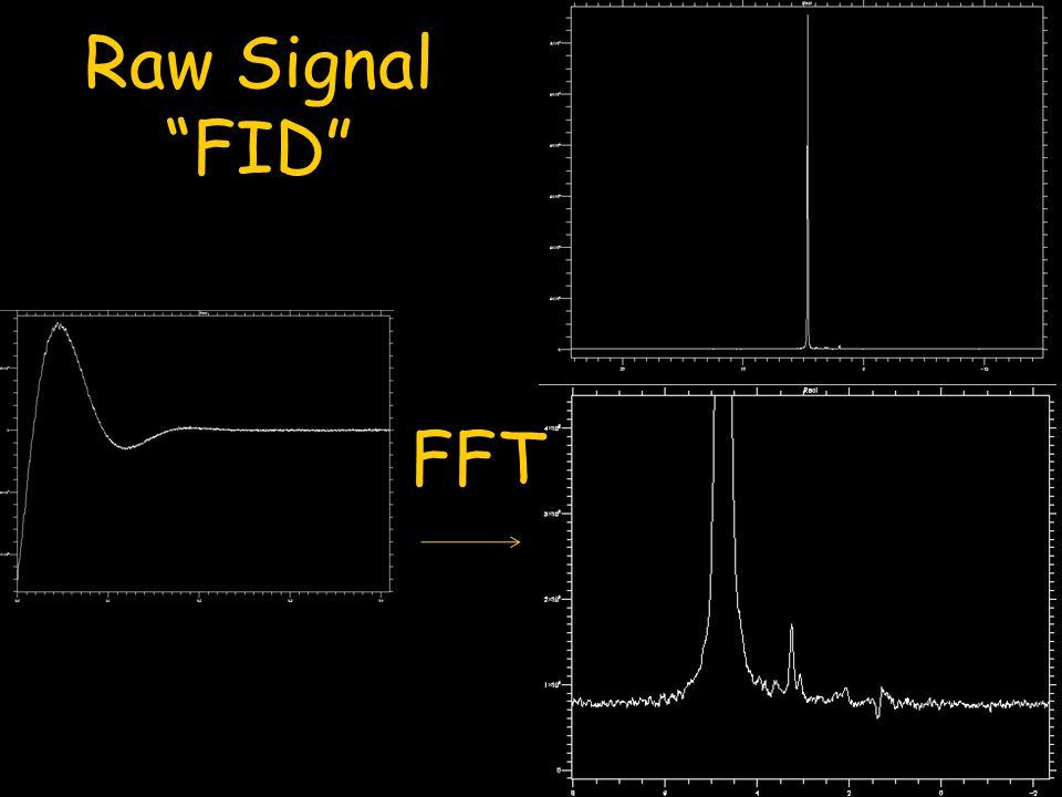 """Raw Signal """"FID"""" FFT"""