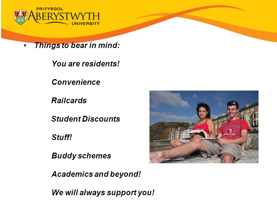 Things to bear in mind: You are residents. Convenience Railcards Student Discounts Stuff.