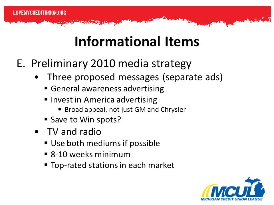 Informational Items E.