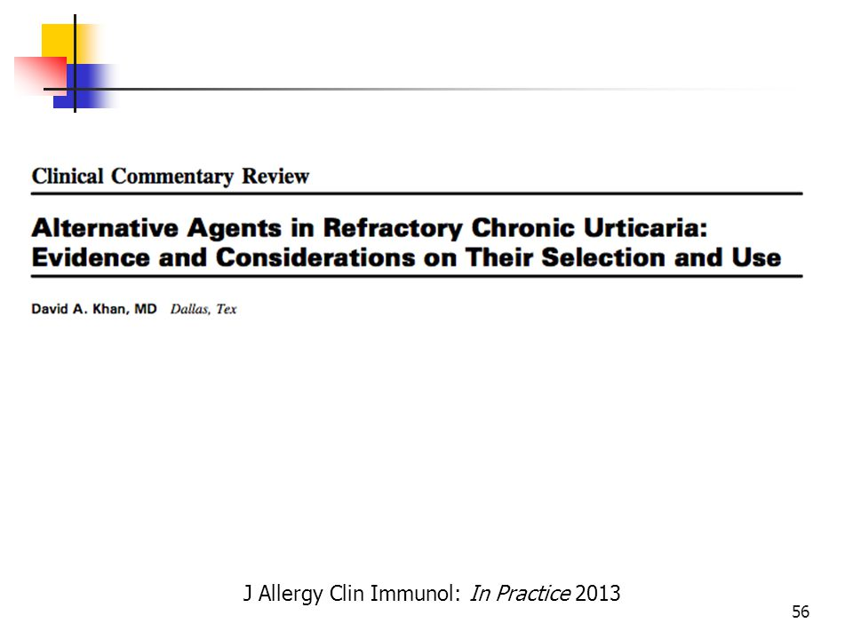 J Allergy Clin Immunol: In Practice 2013 56