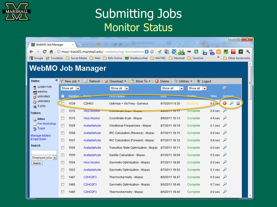 Submitting Jobs Monitor Status