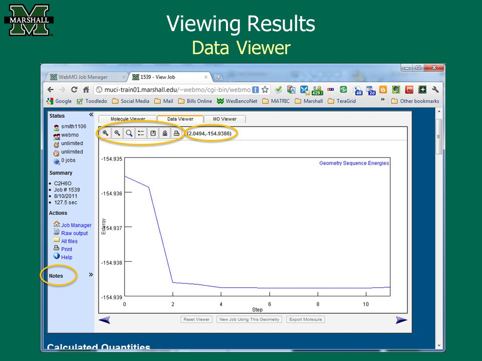 Viewing Results Data Viewer