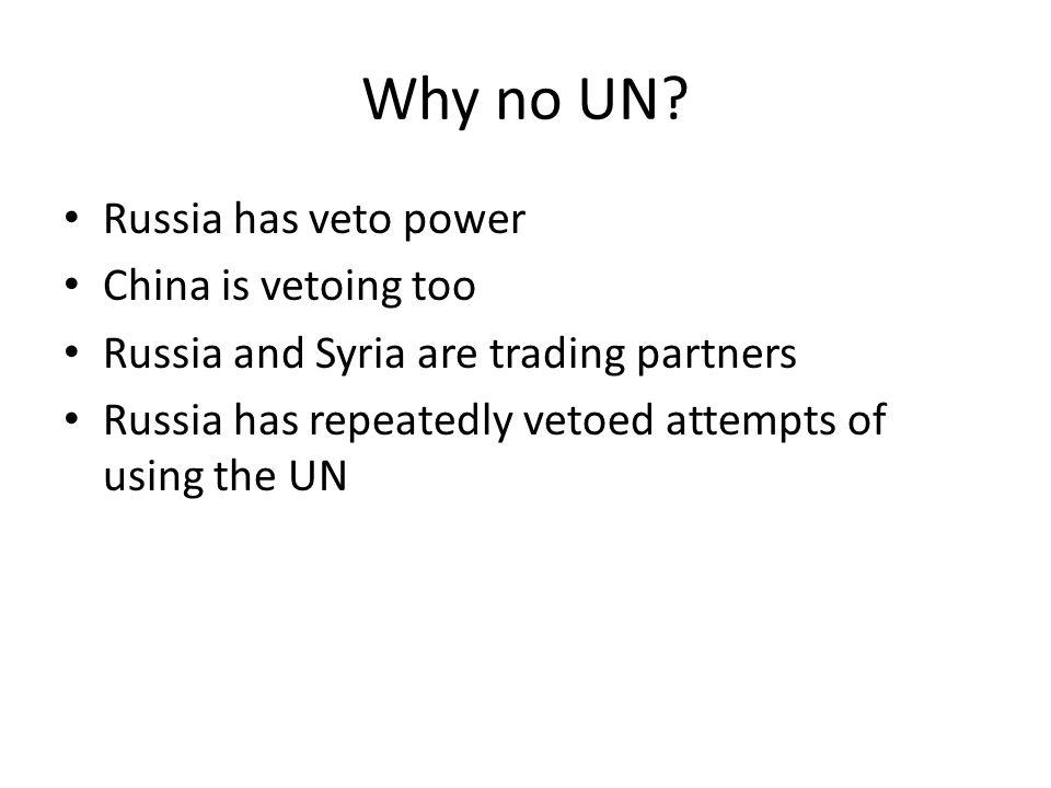 Why no UN.