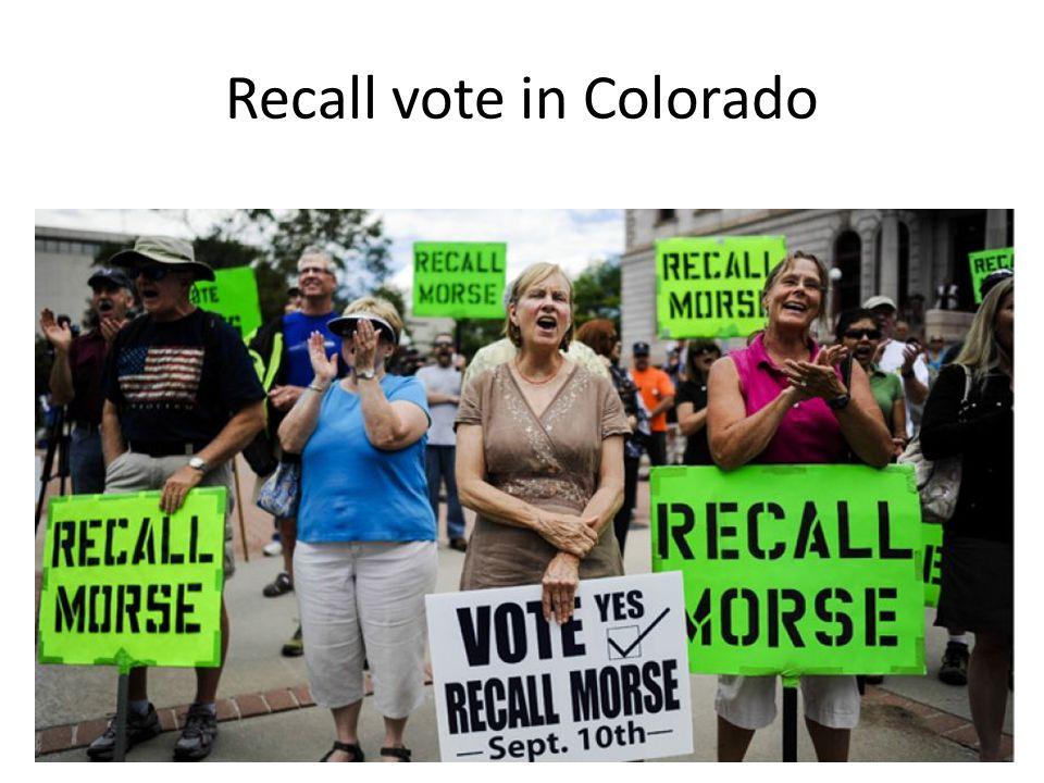 Recall vote in Colorado