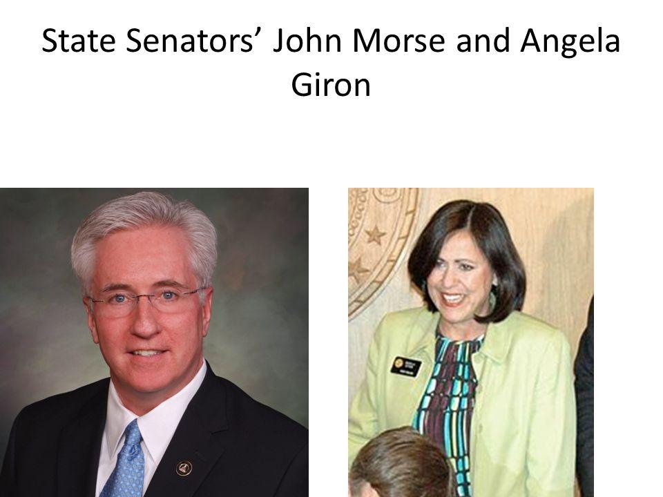State Senators' John Morse and Angela Giron